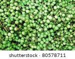 Solanum torvum at the market - stock photo