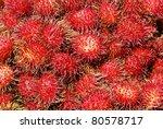 Negrito at fruit market - stock photo