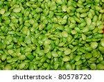 Parkia speciosa at market - stock photo