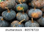pumpkins collection on the market - stock photo