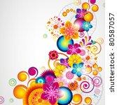 gift festive floral design... | Shutterstock . vector #80587057