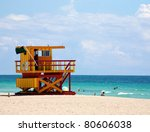 A Lifeguard Tower On South...