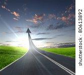 highway road going up as an... | Shutterstock . vector #80613892
