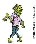 cartoon zombie with brains... | Shutterstock .eps vector #80622631