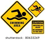 swimming area and no swimming...