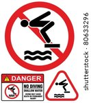 no diving and jumping  hazard...
