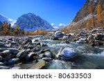 altai mountains  lake... | Shutterstock . vector #80633503
