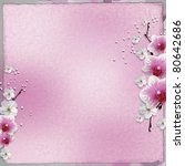 paper background  with pink... | Shutterstock . vector #80642686