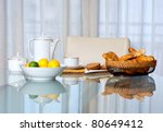 Breakfast Table With Coffee Cu...