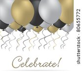 elegant celebration card in... | Shutterstock .eps vector #80655772