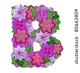 alphabet of flowers | Shutterstock . vector #80663809