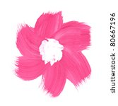 pink flower paint on white... | Shutterstock . vector #80667196