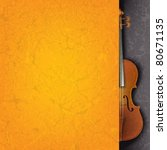 Abstract Grunge Orange Music...