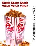 pop corn  caramel corn  snack ... | Shutterstock . vector #80674264