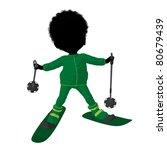 little african american skier... | Shutterstock . vector #80679439