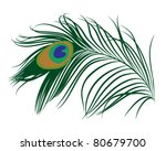 Emerald Green Peacock Feather