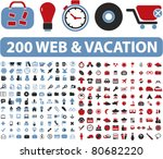 200 web   vacation icons ...