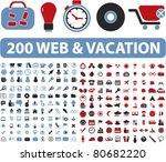 200 web   vacation icons ...