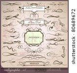 calligraphic set | Shutterstock .eps vector #80689672