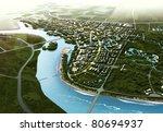 buildings made in 3d | Shutterstock . vector #80694937