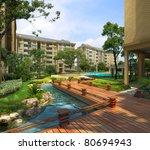 3d rendering of the building | Shutterstock . vector #80694943
