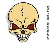 vector skull   Shutterstock .eps vector #80695405