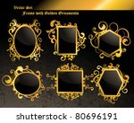 vector set  golden frame... | Shutterstock .eps vector #80696191