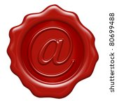 arroba as a wax seal   letter... | Shutterstock . vector #80699488
