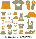 clothes icons  signs  vector... | Shutterstock .eps vector #80705713
