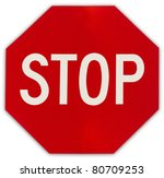 stop sign | Shutterstock . vector #80709253