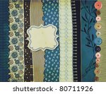 gypsy background with patterned ... | Shutterstock .eps vector #80711926