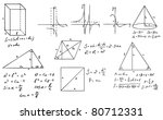 mathematics and geometry doodle ... | Shutterstock .eps vector #80712331