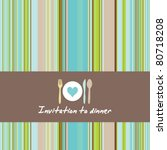 greeting card with cutlery and... | Shutterstock .eps vector #80718208