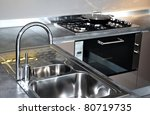 water tap and sink in a modern...   Shutterstock . vector #80719735