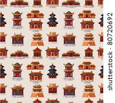 Cartoon Chinese House Seamless...