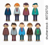 cartoon charming young man icon | Shutterstock .eps vector #80720710