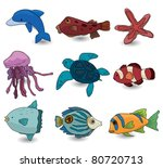 cartoon fish icon   Shutterstock .eps vector #80720713