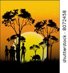 illustration animal of africa   ... | Shutterstock .eps vector #8072458