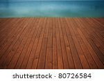 wooden wharf and blue water | Shutterstock . vector #80726584