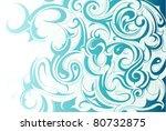 liquid water ornament   Shutterstock .eps vector #80732875