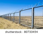 Protection Fence With Barbed...