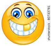 golden tooth emoticon | Shutterstock .eps vector #80733781