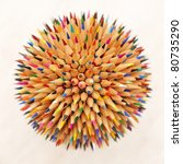 hedgehog out of pencils | Shutterstock . vector #80735290