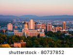 Salt Lake City  Utah At Sunset