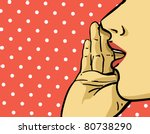 Woman Gossip Retro Illustratio...
