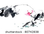 abstract lotus traditional... | Shutterstock . vector #80742838