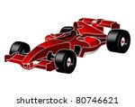 formula one red car f_1 | Shutterstock .eps vector #80746621