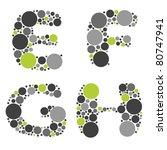 alphabet   part two   e  f  g  h | Shutterstock .eps vector #80747941