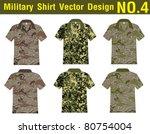 military shirt vector template. ...