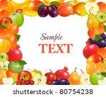 fruit design background. vector. | Shutterstock .eps vector #80754238